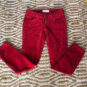 Old navy red corduroy jeans size 2